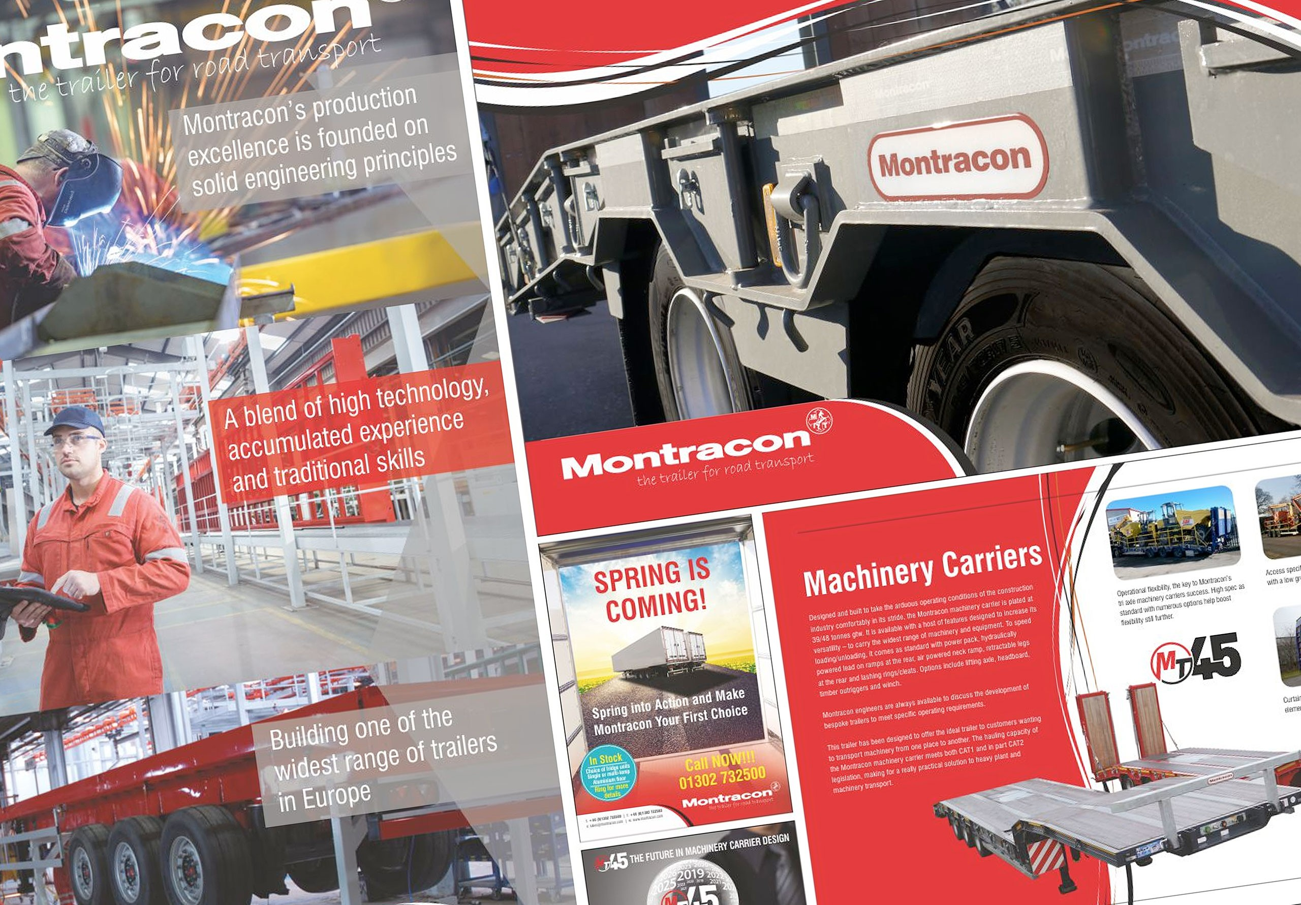 montracon website graphic design