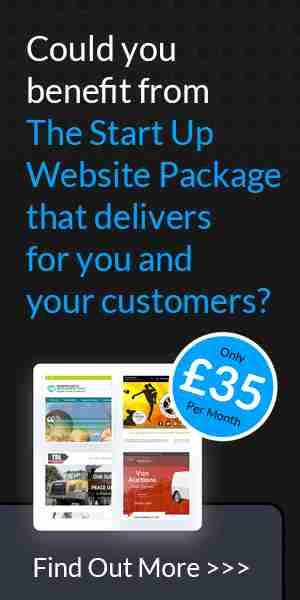 start up website package advert